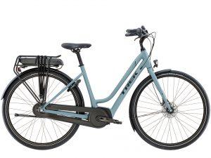 Photo of a TREK electric bike in blue