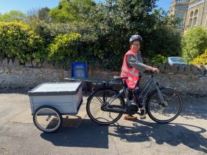 Example of business cargo bike acquired using a grant.