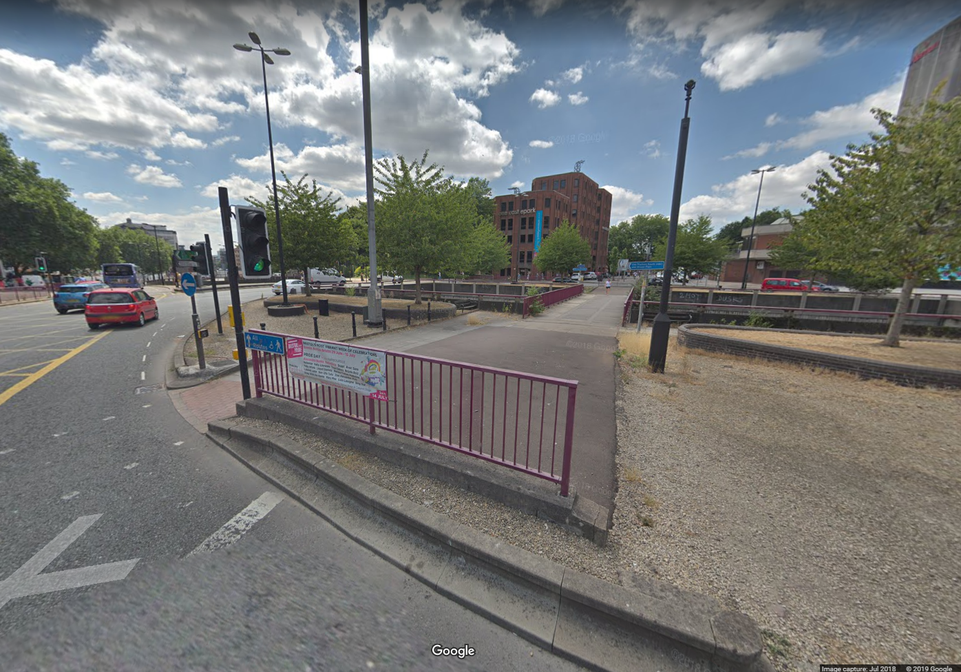 Old Market Cycle Safety Project - Photo of Subway after infill - Image Copyright Google
