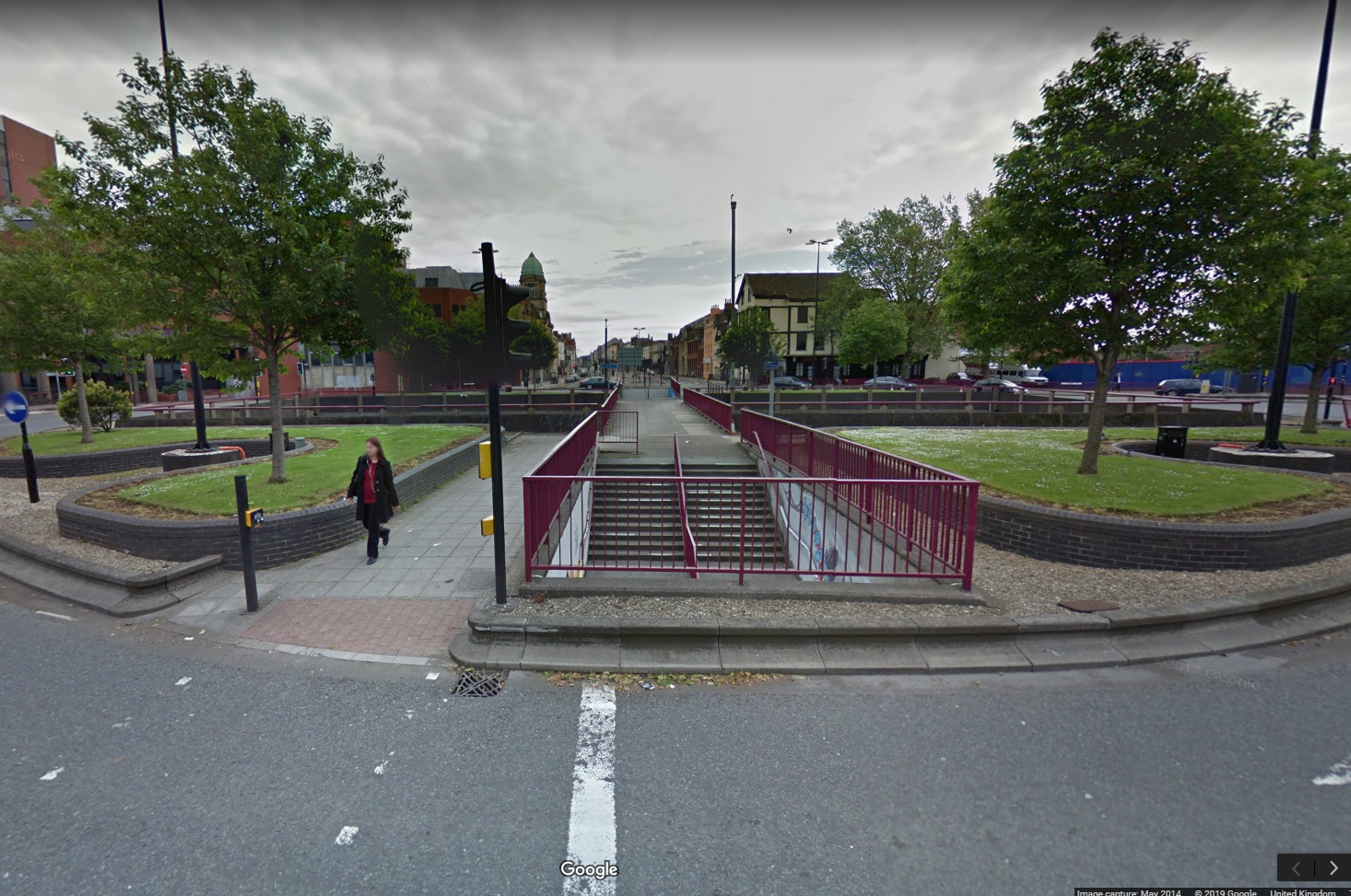 Old Market Cycle Safety Project - Photo of Subway before infill - Image copyright Google