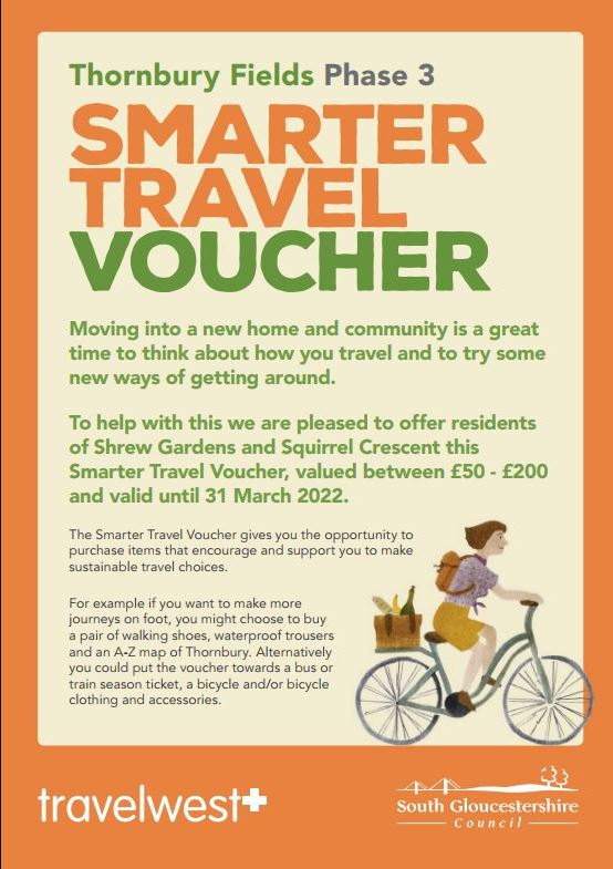 Thornbury Fields Phase 2 preview of travel voucher details