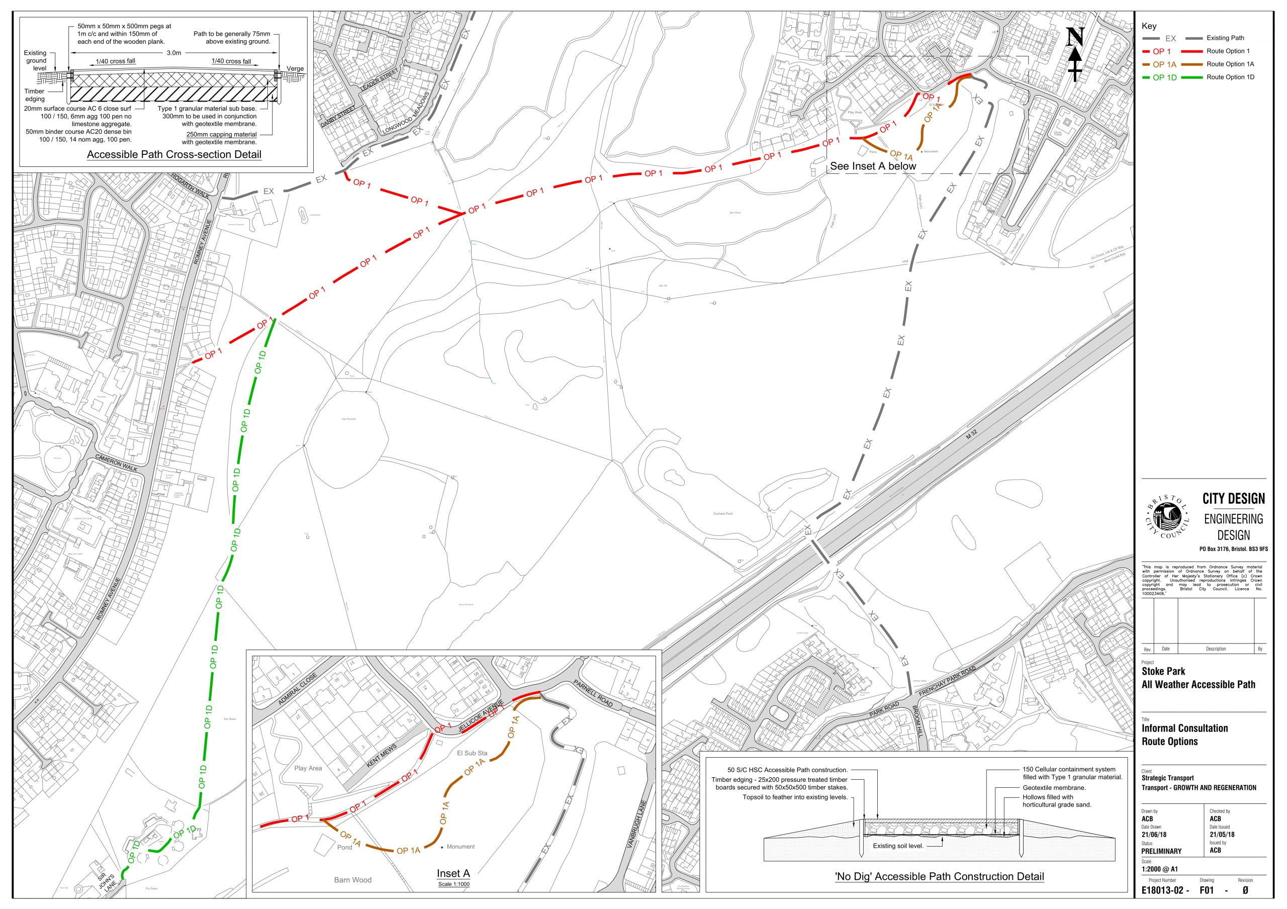 Stoke Park accessible path proposal map