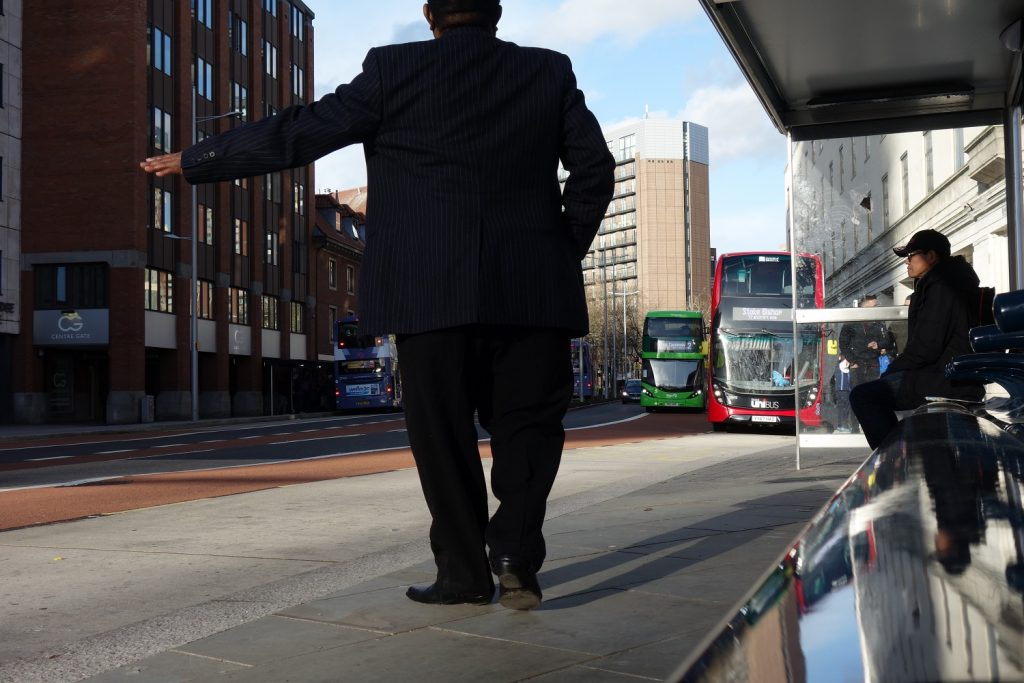 Bristol city centre after metrobus construction work