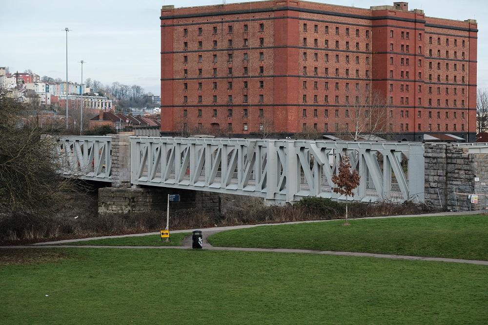 Ashton Avenue Swing Bridge after refurbishment