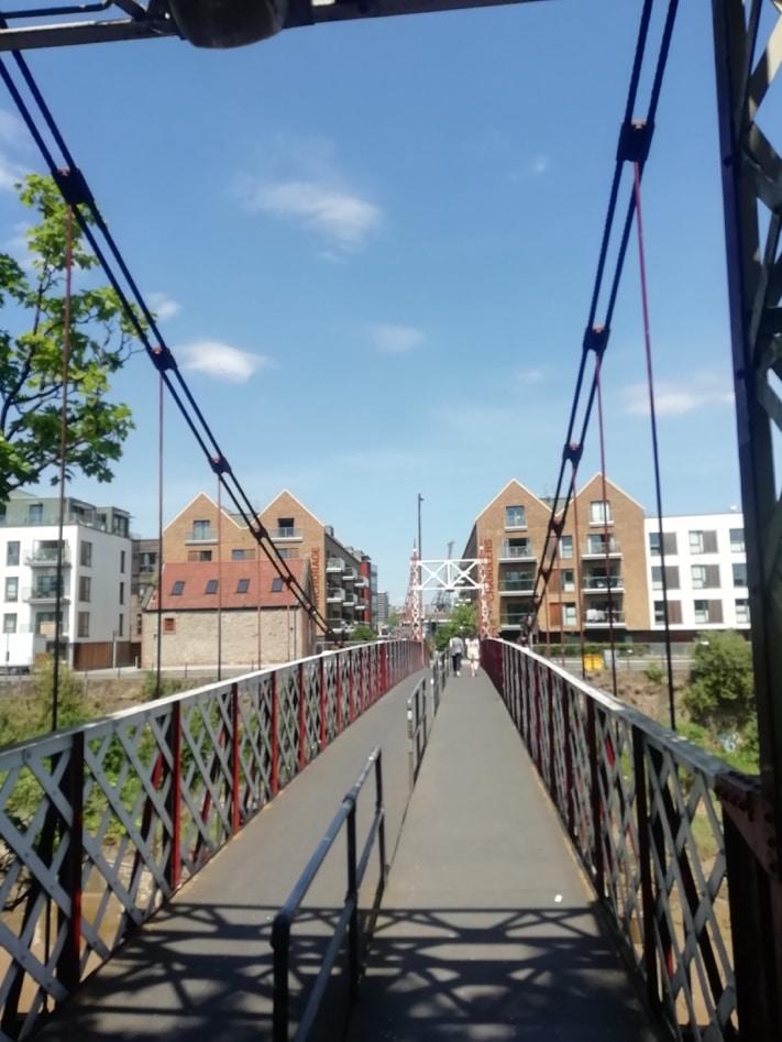 Photo of pedestrian bridge.
