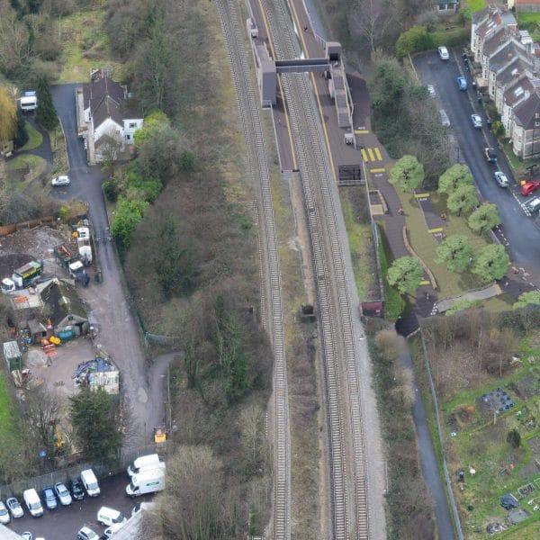 Ashley Down Station Aerial view