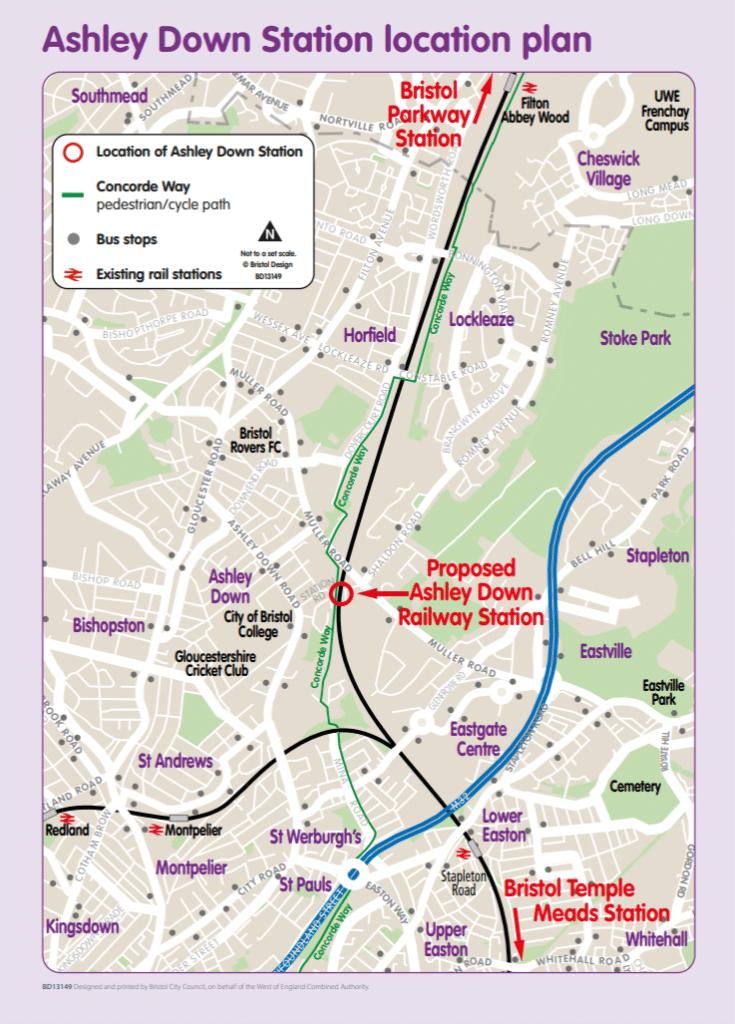 Ashley Down Station Location Plan