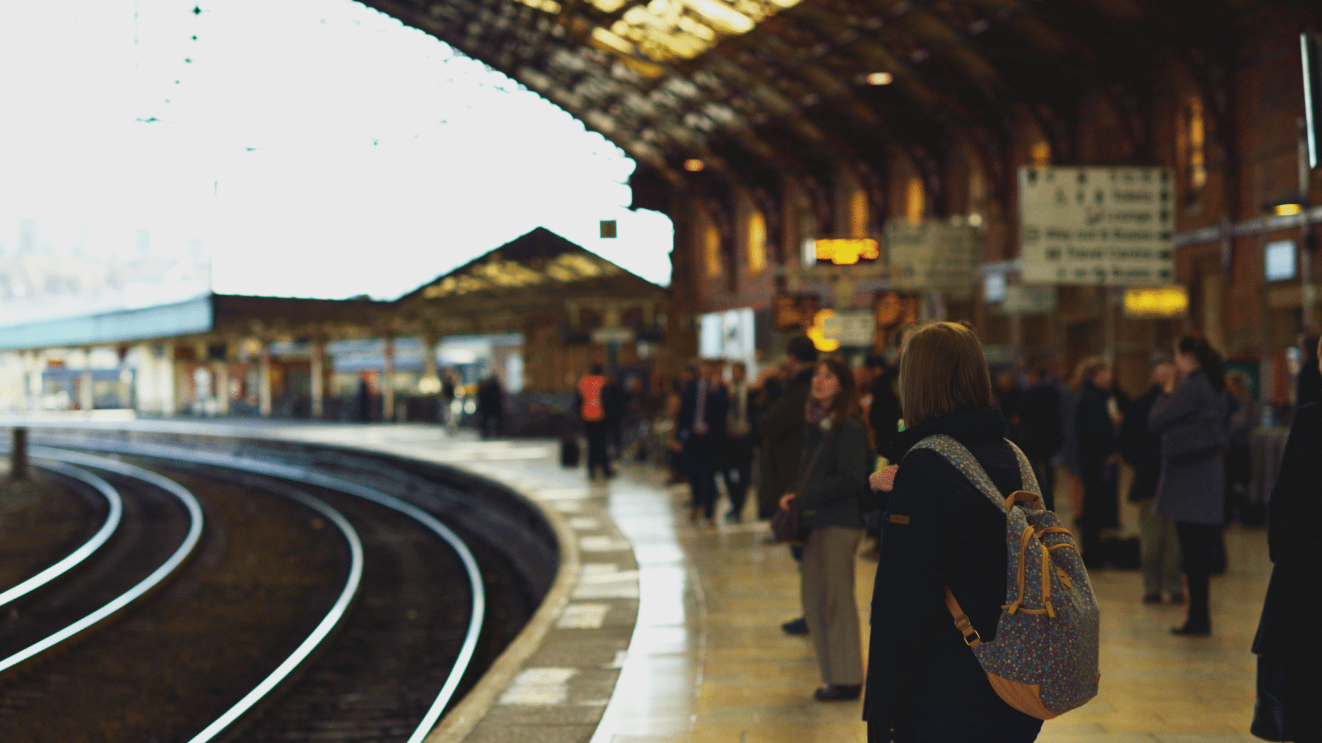 Photo of Bristol Temple Meads platform with people waiting for the train