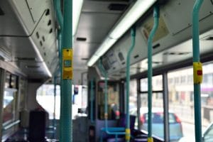 photo of the inside of a bus